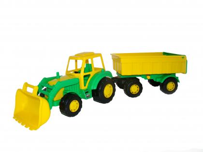 Traktor s přívěsem Mistr 1