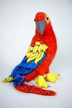 Plyšový papoušek Ara červený.jpg