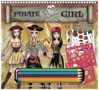Pirátská návrhářka (s pastelkami)