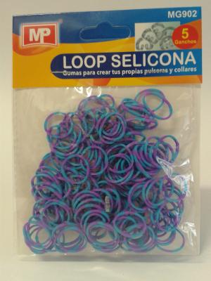 LOOP SELICONA - fialovomodrá 902
