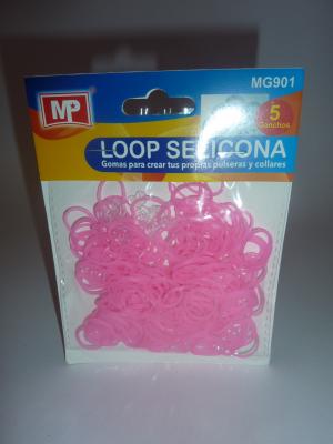 LOOP SELICONA - růžová 901 svítí ve tmě!