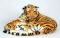 Plyšová tygřice oranžová s mládětem
