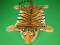 Plyšová předložka Tygr oranžový velikost L