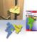 Ochrana proti přiskřípnutí prstů a stabilizátor dveří žlutá