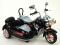 Elektrická motorka se sajdkárou, 12V černá
