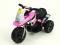 Elektrická motorka Racing sport 6V růžová